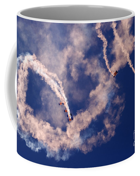 Raf Falcons Coffee Mug featuring the photograph Raf Falcons by Angel Ciesniarska