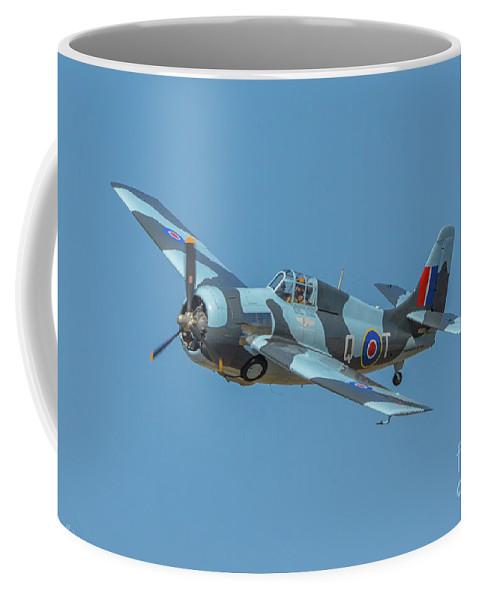 Grumman Gm Fm-2wildcat Coffee Mug featuring the photograph Raf Fm-2 Wildcat by Tommy Anderson