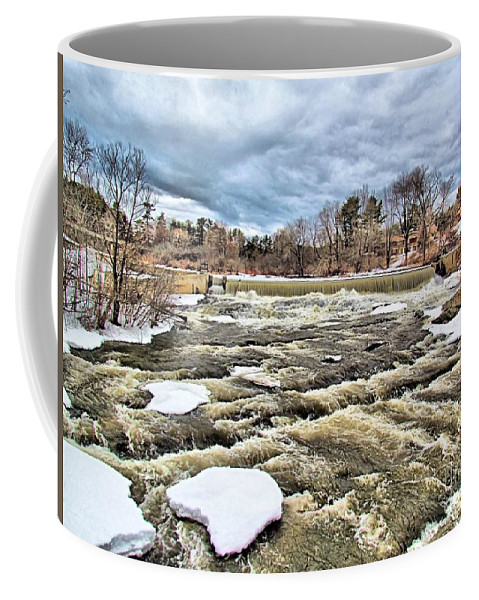 Royal River Coffee Mug featuring the photograph Raging Royal River by Elizabeth Dow