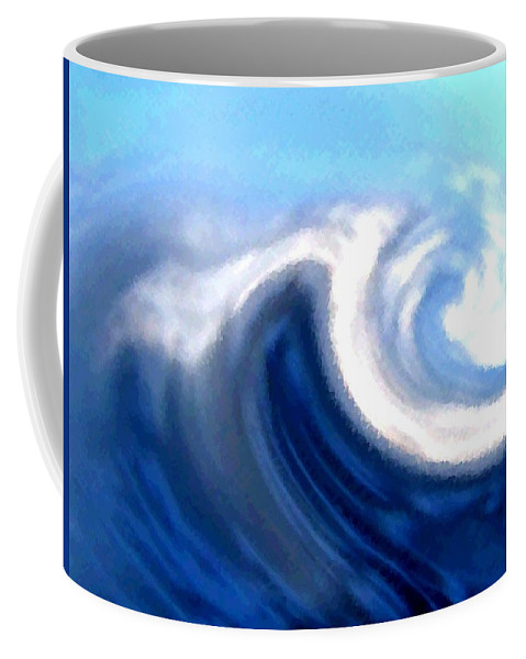 Abstract Coffee Mug featuring the digital art Raging Sea by Will Borden
