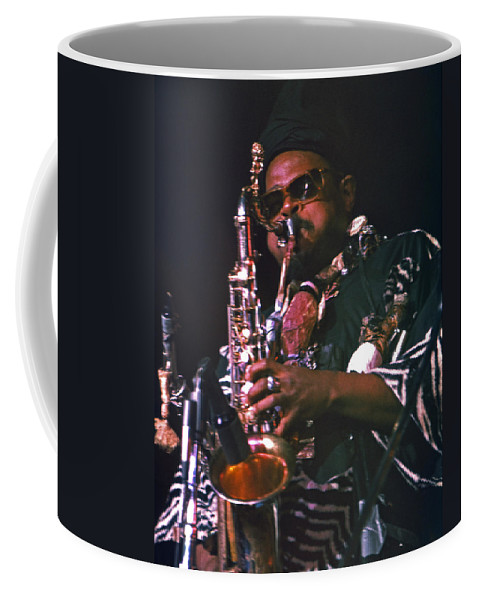 Rahsaan Roland Kirk Coffee Mug featuring the photograph Rahsaan Roland Kirk 4 by Lee Santa