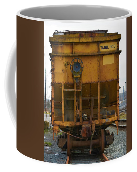 Railroad Coffee Mug featuring the photograph Railroad Love by Lisa Kleiner