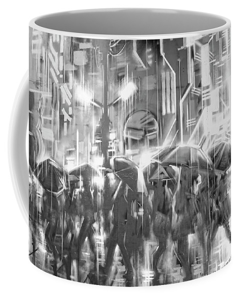 Rain Coffee Mug featuring the digital art Rain And Wet. by Luigi Petro