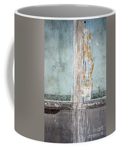 California History Coffee Mug featuring the photograph Rain Ruined Wall by Norman Andrus
