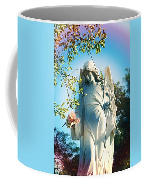 Angel Coffee Mug featuring the photograph Rainbow Angel by Susanne Van Hulst