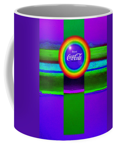 Violet Coffee Mug featuring the painting Rainbow by Charles Stuart