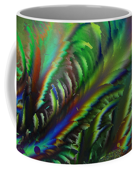 Ice Crystals Coffee Mug featuring the photograph Rainbow Crystals by Carol Berget