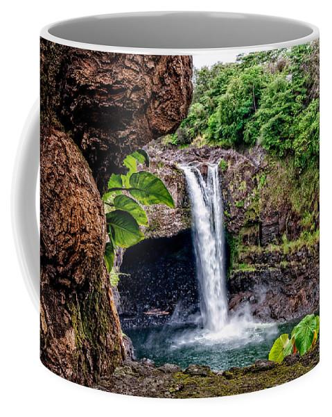 Hawaii Coffee Mug featuring the photograph Rainbow Falls by Christopher Holmes