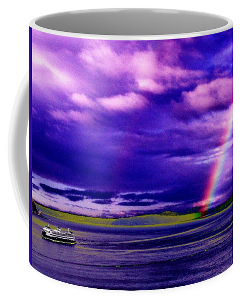 Seattle Coffee Mug featuring the photograph Rainbow Ferry by Tim Allen