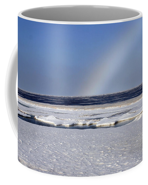Rainbow Coffee Mug featuring the photograph Rainbow Over The Arctic by Anthony Jones