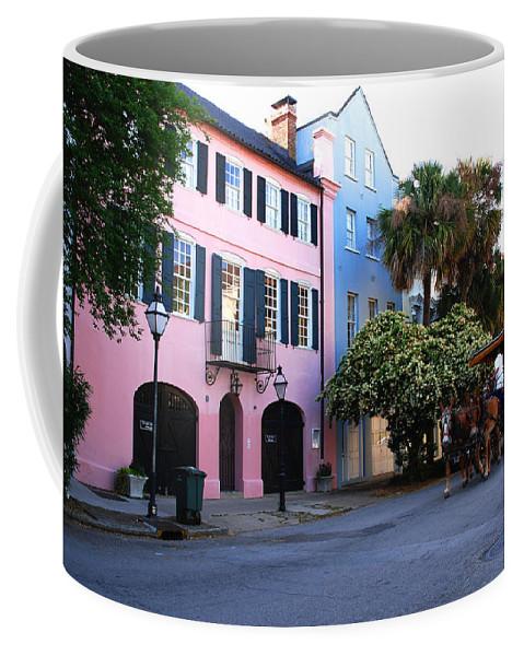 Charleston Coffee Mug featuring the photograph Rainbow Row Charleston by Susanne Van Hulst