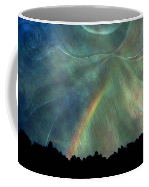 Nature Coffee Mug featuring the photograph Rainbow Showers by Linda Sannuti