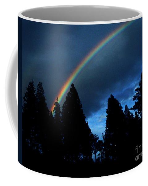 Rainbow Coffee Mug featuring the photograph Rainbow Sky by Peter Piatt