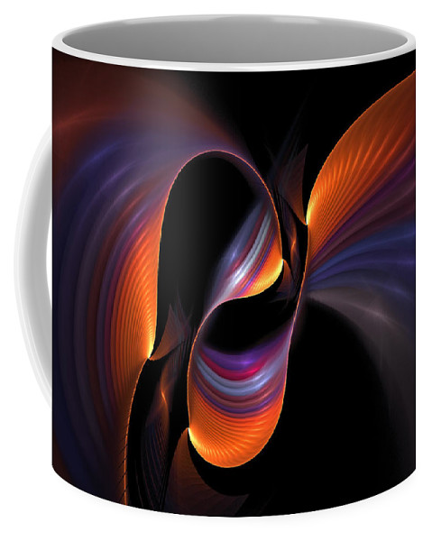 Light Coffee Mug featuring the digital art Rainbow Tango by Doug Morgan