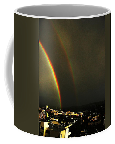 Seattle Coffee Mug featuring the photograph Rainbow by Tim Allen