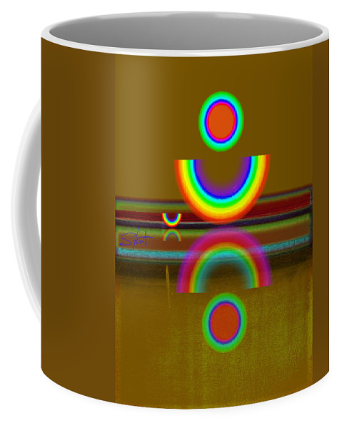 Reflections Coffee Mug featuring the painting Rainbow Warrior by Charles Stuart