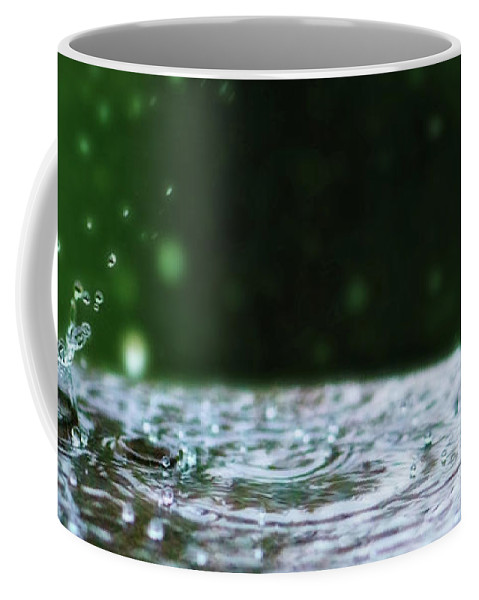 Soothing Coffee Mug featuring the photograph Raindrops Rejuvinate by Lisa Knechtel
