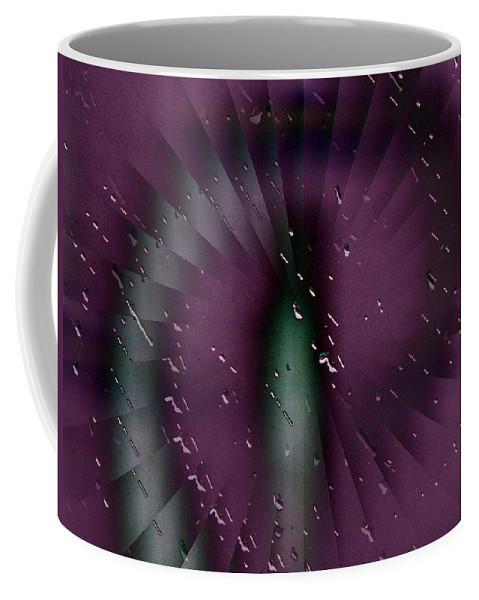 Rain Coffee Mug featuring the digital art Rainy Window by Tim Allen