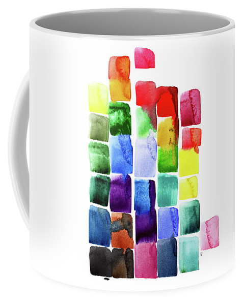 Rainbow Coffee Mug featuring the painting Raise The Roof by Tonya Doughty
