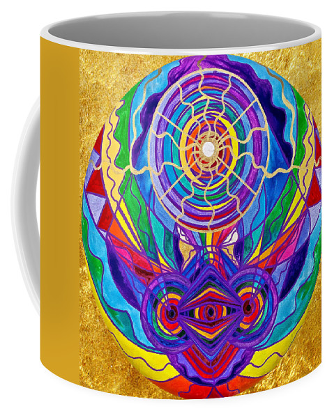 Vibration Coffee Mug featuring the painting Raise Your Vibration by Teal Eye Print Store
