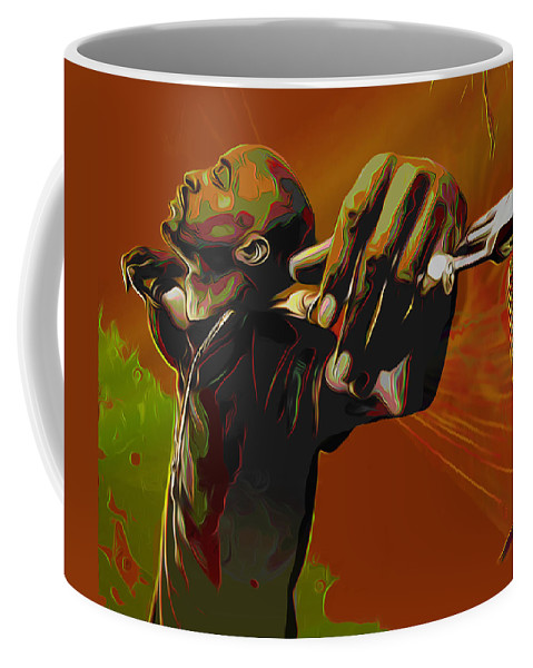 Rakim Coffee Mug featuring the painting Rakim by Fli Art