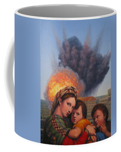 Madonna And Child Coffee Mug featuring the painting Raphael Moderne by James W Johnson