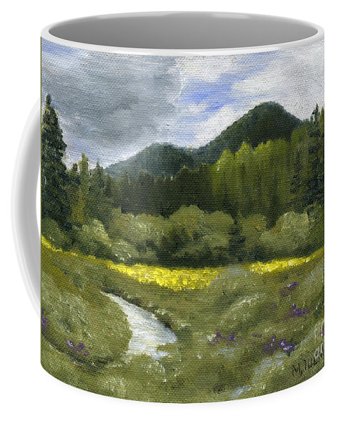 Creek Coffee Mug featuring the painting Rapid Creek by Mary Tuomi
