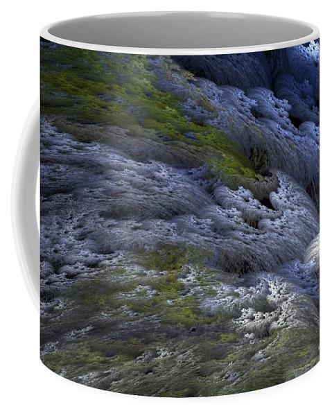 Digital Painting Coffee Mug featuring the digital art Rapids by David Lane