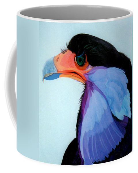 Raptor Coffee Mug featuring the painting Raptor 5 by Marlene Burns