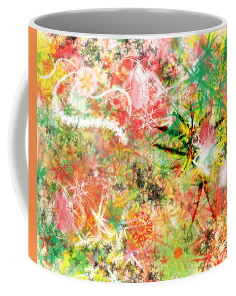 Rastafarian Coffee Mug featuring the digital art Rasta Flowers by Fay Lawrence