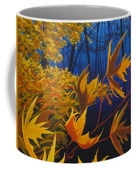 Autumn Leaves Coffee Mug featuring the painting Raucous October by Hunter Jay