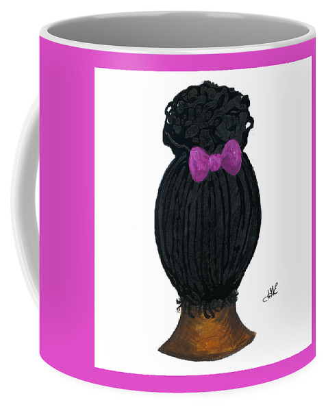 Naturally Me Kidz Coffee Mug featuring the painting Raven by Sonja Griffin Evans