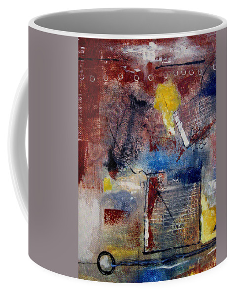 Abstract Coffee Mug featuring the painting Raw Emotions II by Ruth Palmer