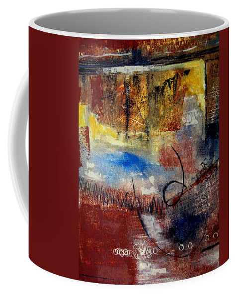 Abstract Coffee Mug featuring the painting Raw Emotions by Ruth Palmer