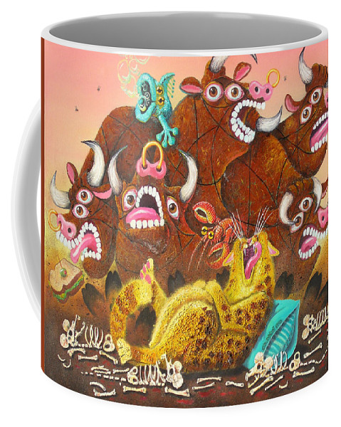 Cat Coffee Mug featuring the painting Rawhide O.d. by Baron Dixon