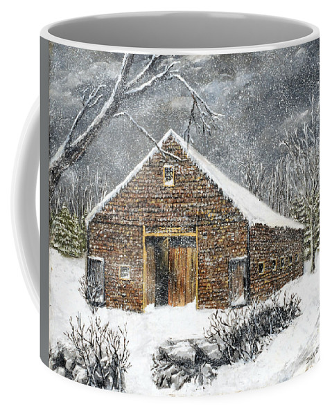 Barns Coffee Mug featuring the painting Ray Emerson's Old Barn by Jack Skinner