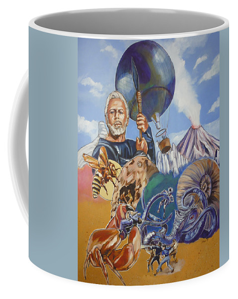 Mysterious Island Coffee Mug featuring the painting Ray Harryhausen Tribute The Mysterious Island by Bryan Bustard