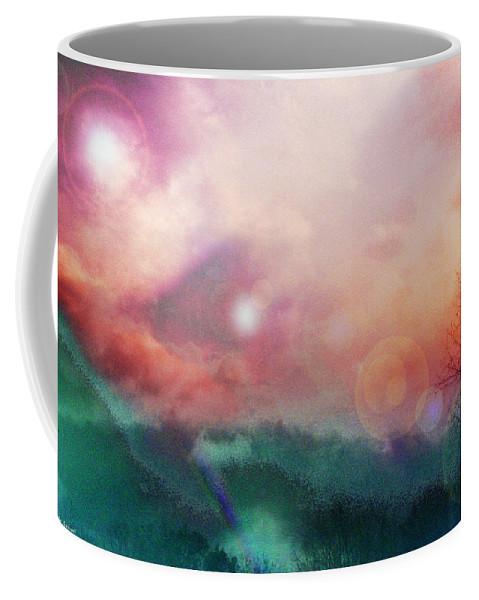 Nature Coffee Mug featuring the digital art Ray Of Hope by Linda Sannuti