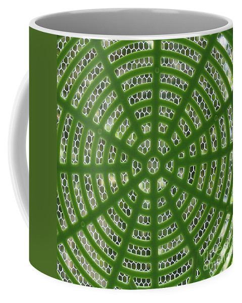 Abstract Coffee Mug featuring the photograph Rays And Circles Abstract 01 by Ausra Huntington nee Paulauskaite