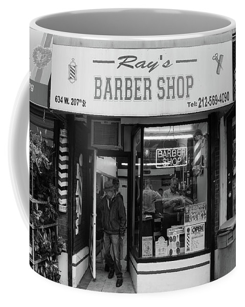 Ray's Coffee Mug featuring the photograph Ray's Barbershop by Cole Thompson
