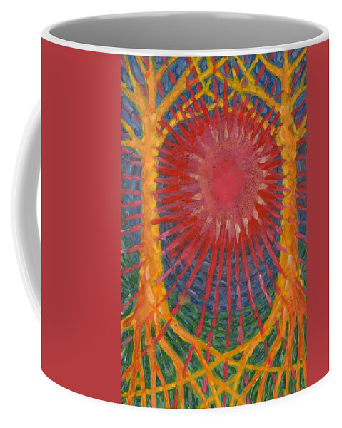 Colour Coffee Mug featuring the painting Rays Of Life by Wojtek Kowalski