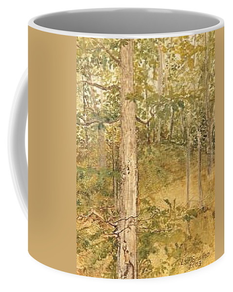 Trees Coffee Mug featuring the painting Raystown Lake by Leah Tomaino