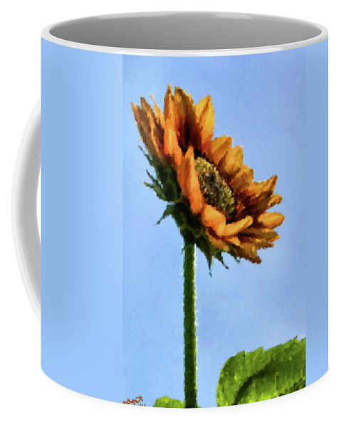 Sunflower Coffee Mug featuring the painting Reach For The Sun by Kristin Elmquist