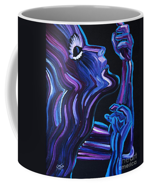Figure Coffee Mug featuring the painting Reach by JoAnn DePolo