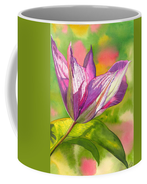 Flower Coffee Mug featuring the painting Reaching by Catherine G McElroy