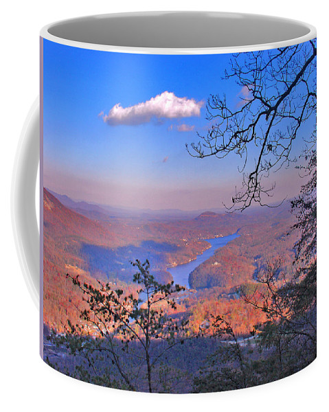 Landscape Coffee Mug featuring the photograph Reaching For A Cloud by Steve Karol