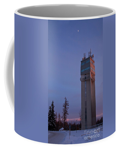 Reaching The Moon Coffee Mug featuring the photograph Reaching The Moon V2 by Alex Art and Photo