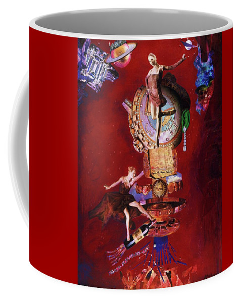 Takeoff Coffee Mug featuring the mixed media Ready For Takeoff - Me Too by Barbara Jean Lloyd