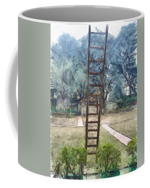 Ladder Coffee Mug featuring the photograph Ready To Climb Up by Ashish Agarwal