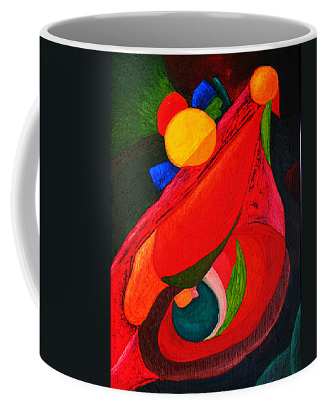 Abstract Coffee Mug featuring the painting Ready To Fly by Michael C Crane